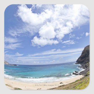 Makapuu Beach in Oahu, Hawaii. Square Sticker