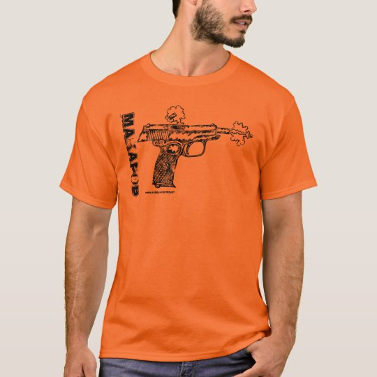 Makarov pistol graphic art cool gun t-shirt