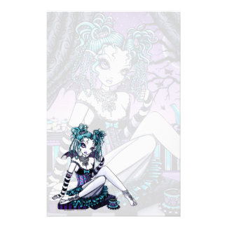 """""""Makayla"""" Goth Couture Tea Party Fairy Stationery"""