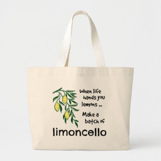 Make a Batch of Limoncello Large Tote Bag
