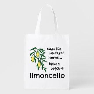 Make a Batch of Limoncello Reusable Grocery Bag