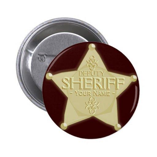 Make a Deputy Sheriff Badge Golden Buttons