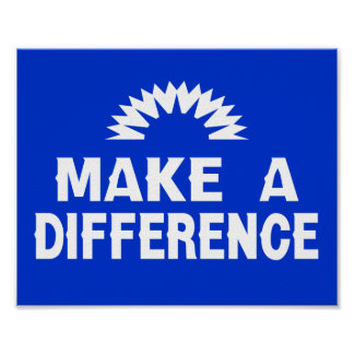 Make a Difference Poster
