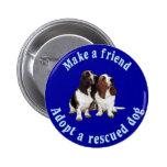 Make A Friend - Basset Hound 6 Cm Round Badge