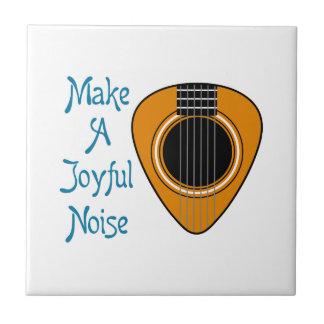 Make A Joyful Noise Small Square Tile