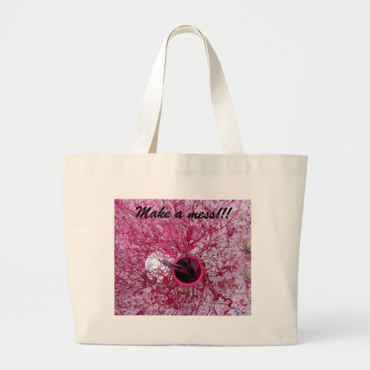 make a mess large tote bag