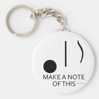 Make A Note of This Key Chain