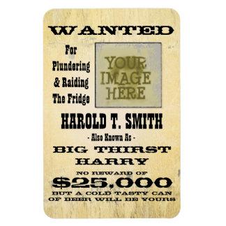 Make a Prank Wanted Fridge Magnet Big Thirst