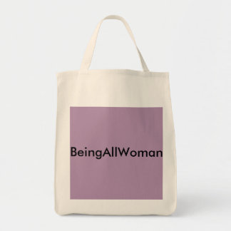 Make a statement about who you are with confidence grocery tote bag