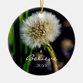 Make a Wish, Believe, Dandelion Christmas Ornament