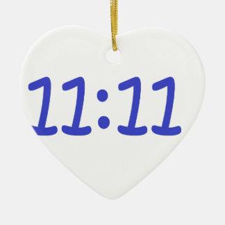 make a wish- blue ceramic heart decoration
