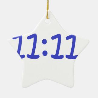 make a wish- blue ceramic star decoration