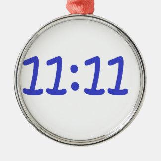 make a wish- blue Silver-Colored round decoration
