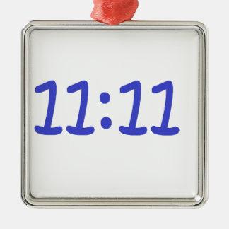make a wish- blue Silver-Colored square decoration