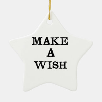 Make a Wish Ceramic Star Decoration