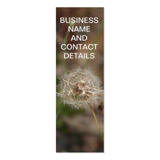 Make a Wish Dandelion Clock Business Card Template
