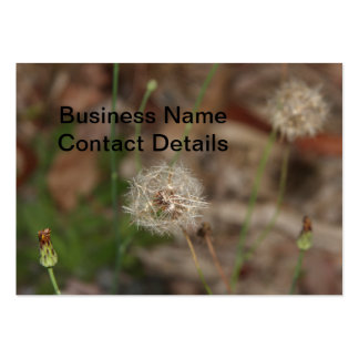 Make a Wish Dandelion Clock Business Card Templates