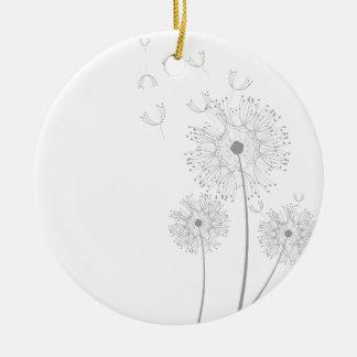 Make A Wish Dandelion Round Ceramic Decoration