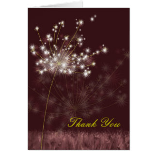 Make a Wish Dandelions Wedding Thank You Card