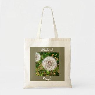 Make a Wish Danelion Tote Budget Tote Bag