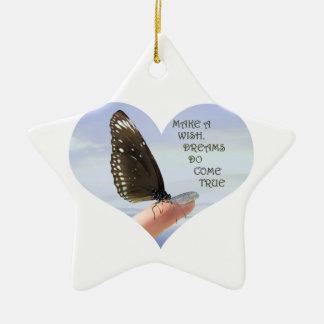 Make a wish Dreams come true Ceramic Star Decoration