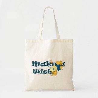 Make a Wish Fish Budget Tote Bag