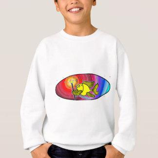Make a wish Fish Oval Sweatshirt