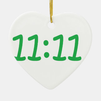 Make a wish- green ceramic heart decoration