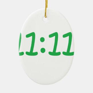 Make a wish- green ceramic oval decoration