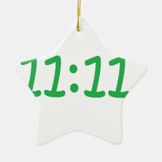 Make a wish- green ceramic star decoration