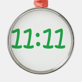 Make a wish- green Silver-Colored round decoration