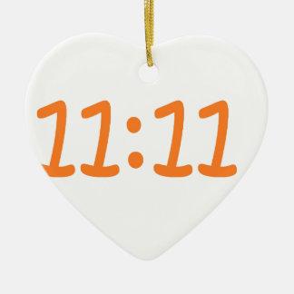 make a wish-orange ceramic heart decoration