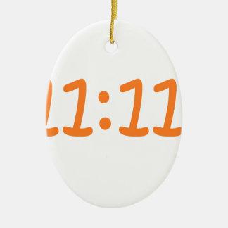 make a wish-orange ceramic oval decoration