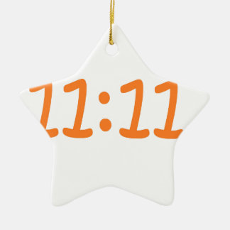 make a wish-orange ceramic star decoration