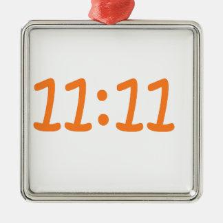 make a wish-orange Silver-Colored square decoration