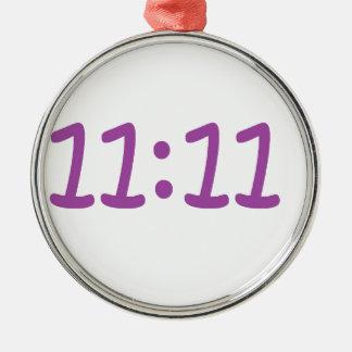 make a wish purple Silver-Colored round decoration