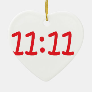 make a wish- red ceramic heart decoration