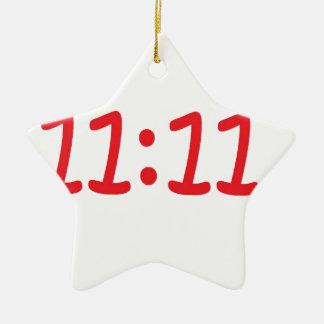 make a wish- red ceramic star decoration