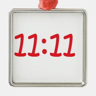 make a wish- red Silver-Colored square decoration