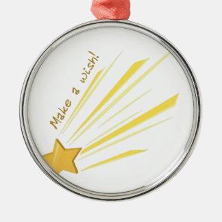 Make a Wish Silver-Colored Round Decoration