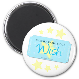 Make a Wish Ticket 6 Cm Round Magnet