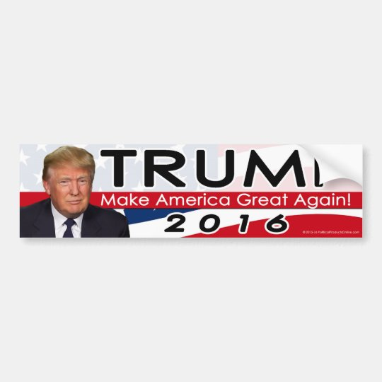 Make America Donald Trump Bumper Sticker