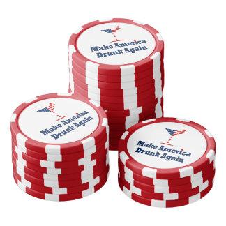 MAKE AMERICA DRUNK AGAIN  A patriotic election par Poker Chips
