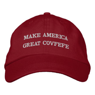 MAKE AMERICA GREAT COVFEFE   funny red cotton cap