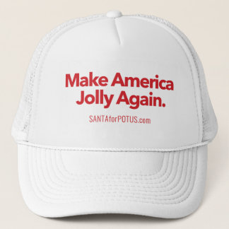 """Make America Jolly Again"" trucker hat"