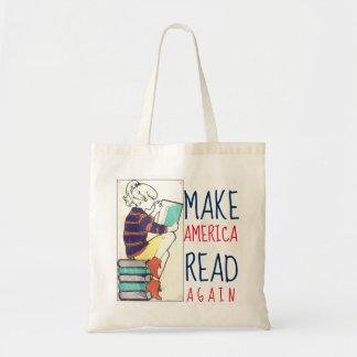 Make America Read Again Literacy Tote Bag
