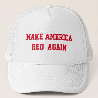 MAKE AMERICA RED AGAIN TRUCKER HAT