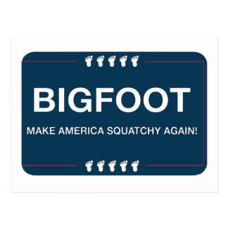 Make America Squatchy Again Postcard
