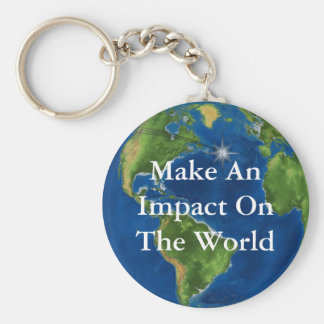 Make An Impact Basic Round Button Key Ring