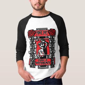 Make Art Make A Difference Jersey Tee Shirts